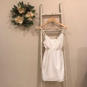 [J. Crew] White Spaghetti Strap Dress
